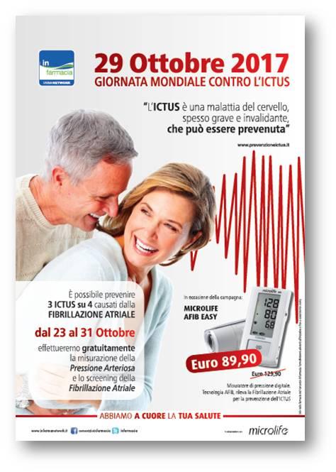 Locandina prevenzione Ictus IN FARMACIA - ottobre 2017
