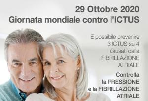29 OTTOBRE: GIORNATA MONDIALE CONTRO L'ICTUS
